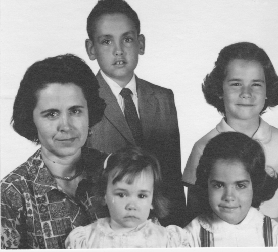 Mom & us  passport photo 1964